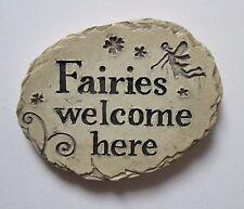 i Fairies welcome here Fairy Garden Stepping Stone miniature ganz
