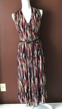 Anne Klein New York red black cream sleeveless empire waist  dress size XS