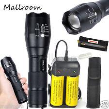 Zoomable 5000lm XML T6 LED Taschenlampen Torch+2*26650 Akku+Ladegerät+Holster