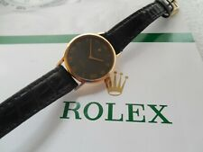 18K SOLID GOLD ROLEX CELLINI REF# 4109 MOVEMENT 1601 MSRP$9995.00