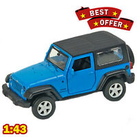 1/43 Jeep Wrangler AUTOPROM Diecast Metal Model Blue / White / Red 2018