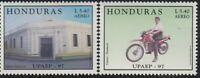 Upaep Honduras 959/60 1997 Postman IN Motorcycle Office Postal MNH