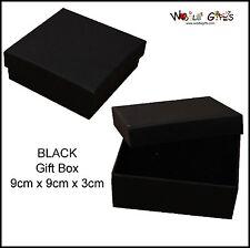 12 Black Jewellery Boxes Square Bracelet Gift Boxes 9x9cm