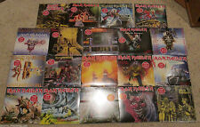 """IRON MAIDEN PICTURE SLEEVE COMPLETE USA SET - (19) - 7"""" VINYL SINGLES COLLECTION"""