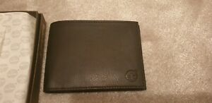 TIMBERLAND Men's Brown Leather Flip Over Wallet with coin pocket