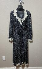 Vintage Victoria's Secret Robe Polka Dot Gold Label Size M / L