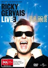 RICKY GERVAIS LIVE 3 -FAME DVD=REGIONS 2(UK) & 4(AUST)=NEW AND SEALED