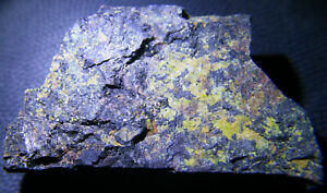 RARE Gummite on Pitchblende, check source, uranium ore