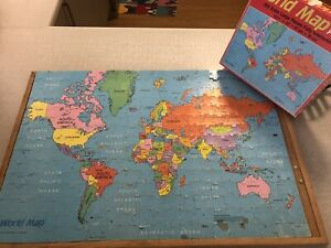 GOLDEN 1984 WORLD MAP Jigsaw Puzzle 300 EXTRA LARGE Pieces VINTAGE