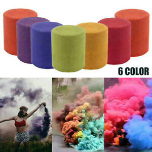 6X Multi-Colors Smoke Effect Cake Shows Bomb Party Stage Photography Aiding Toys