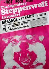 STEPPENWOLF - 1977 - Plakat - Concert - Message - Tourposter - Kaiserslautern