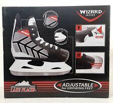 New listing Lake Placid Wizard 400 Youth Boy's Adjustable Lace-up Hockey Ice Skates: (10-13)