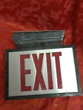 Vtg Sign heavy Metal Exit Commercial Industrial Steampunk Wall deco gift rare
