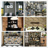3D Self Adhesive Wallpaper Rolls Stickers Rustic Brick Stone Vinyl Wall Paper