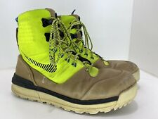 Nike Lunar Terra Arktos Mens 616179-700 Volt Khaki ACG Waterproof BOOTS Size 9.5