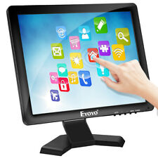 """Eyoyo 15"""" Monitor 10 Point Touch Screen 1024*768 Support VGA/HDMI/USB for Camera"""