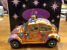 "Christopher Radko Little Gems Collection Vw ""Love Bug"" Christmas Ornament"