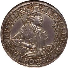 Austria 1632 Hall Archduke Leopold Thaler / Taler NGC MS-64