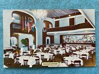 Interior of Headquarters Restaurant, New York, New York Vintage Postcard