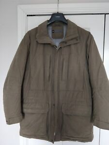 Mens Ultra Warm Jacket In Khaki With High Neck Size M From Next