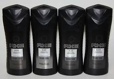 LOT (4) AXE BLACK BODY WASH PEAR & CEDARWOOD SCENT CLEAN COOL 16 FL OZ BODYWASH