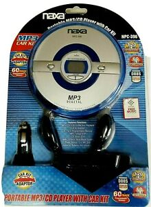 Naxa Blue/Silver Portable MP3/CD Player Combo w/Car Kit NRC-396 Vintage Sealed