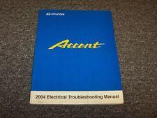 2004 Hyundai Accent Factory Electrical Wiring Diagram Manual Book GT GL 1.6L