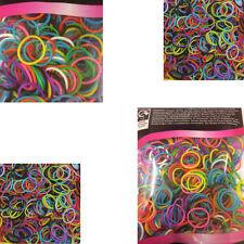 500 X pelo elástico pequeño bandas trenzas Poly goma cordones trenzado-mezclada