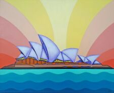 Expressionist painting of the Sydney Opera House.