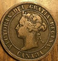 1900 NO H CANADA LARGE 1 CENT PENNY