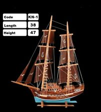 %100 Handmade Wood Pirate Ship model