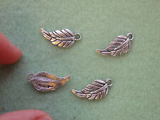 15 Leaf Charms Pendentifs Perles Tibétain Argent Antique Tone Wholesale