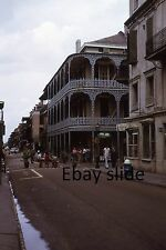 Kodachrome 35mm Slide New Orleans French Quarter People Old Cars Stores 1972!