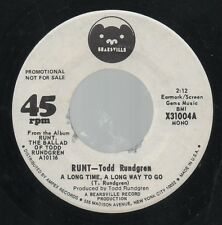 """TODD RUNDGREN  RUNT  Rare 1971 USA Promo Only 7"""" OOP Rock Single """"A Long Time"""""""