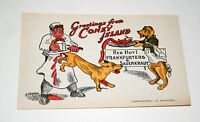 Vintage 1920s Cartoon Coney Island NY Hot Dogs Tourist Postcard NOS Unused