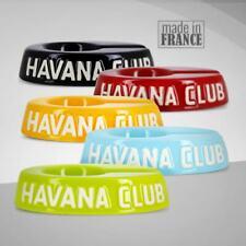Cendrier Havana Club Céramique, Cigare, Pipe, Noir, Rouge, Argent, Bleu clair