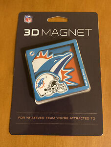 NFL Miami Dolphins 3D Magnet for Fridge / Locker / Any Magnetic Surface