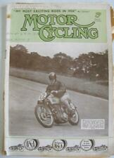 Motor Cycling 30 Dec 1936 Motorcycle Magazine Triumph Tiger 80 New Imperial