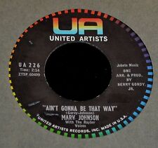 Marv Johnson United Artists 226 Ain't Gonna Be That Way