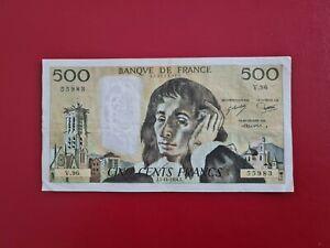 FRANCE billet 500 Francs PASCAL du 5-10-1978 voir photo....