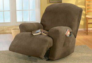 Sure Fit Stretch Pique Recliner  Slipcover in Taupe