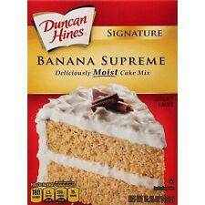 Duncan Hines Signature Cake Mix, Banana Supreme, 15.25 oz (Pack of 6)