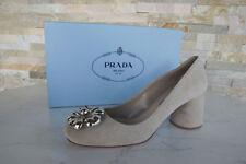 luxus Prada Gr 37,5 Pumps Halbschuhe 1I357H Shoes Schuhe beige neu UVP 550€