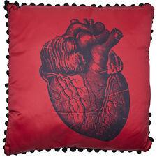 Sourpuss Anatomical Heart Pillow Red