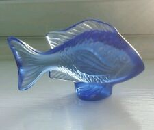 Lalique Fish Damsel Fish Sapphire Blue , See item description