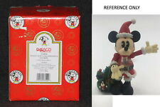 New listing Disney Enesco Mickey Mouse as Nutcracker Santa Figurine Unopened