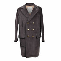 Brunello Cucinelli Men's Brown Cotton Cardioid Long Coat EU 44/46/48/50/52/54