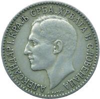 COIN / SERBIA / 1 DINAR 1925 ALEKSANDAR I  #WT25247