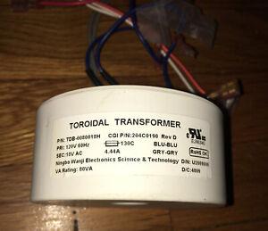 Toroidal Transformer - 120v / 60Hz…. 4.44A. SEC : 18V AC   RoHS OK
