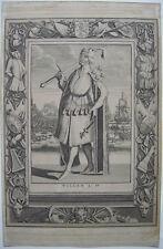 Willem IV. Graf Holland (1318-1345)  Portrait Orig Kupferstich 1730 Niederlande